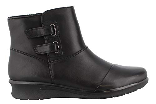 CLARKS Women's Hope Cody Fashion Boot, Black Leather, 120 W -