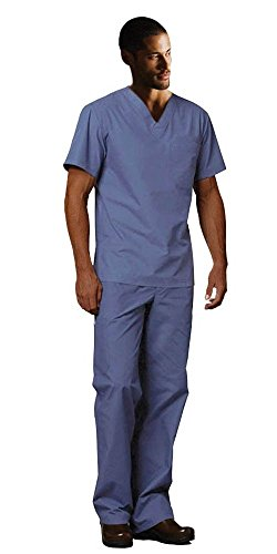 Dickies EDS Signature Unisex Scrubs Set (Top & Pant) (XXX-Large, Ciel - Scrub Unisex Blue
