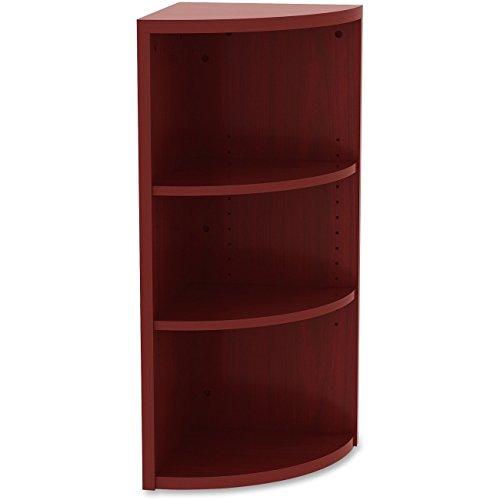 Buy lorell 3 shelf corner bookcase in cherry
