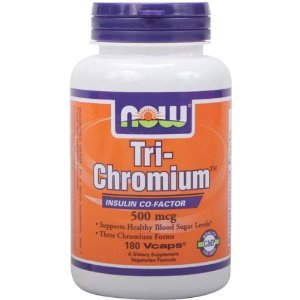 Now Foods Tri-Chromium 500 mcg à la cannelle - 180 Vcaps
