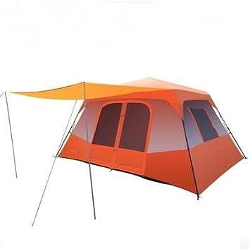 Tienda de campaña al Aire Libre Camping automático Lluvia Familia Tiendas de campaña 5 – 8 Personas Tienda de campaña salón Gran Coche de Dos Habitaciones, Naranja: Amazon.es: Deportes y aire libre