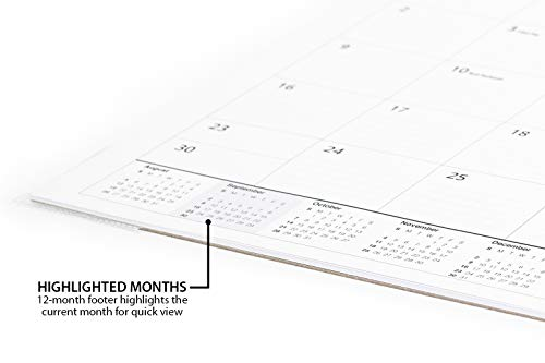 Desk Calendar 2018-2019 (Use Monthly from September 2018 to December 2019) - Large Desk Pad or Wall Calendar - Big Monthly Pages 17'' x 11'' - by Royal Mountain Print Co. by Royal Mountain Print Co. (Image #5)