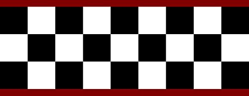Checkered Flag Cars Nascar Wallpaper Border-4.5 Inch (Red ()