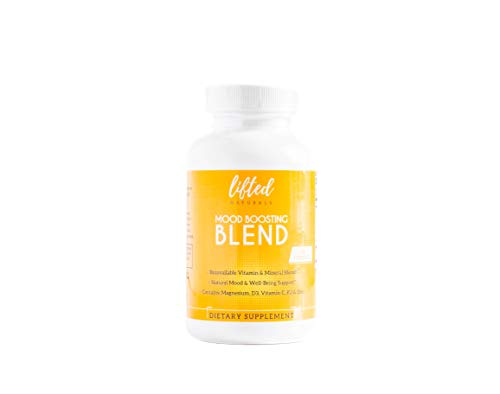 Mood Boosting Blend - Anxiety Relief Supplements: Vitamin D from Lichens, Magnesium Glycinate and Zinc Capsules with Vitamin C Plus Natural Bioflavonoids (Best Mood Boosting Supplements)