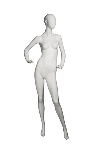 Newtech Display MAF-S2-EGG2/WHT (EGG2) Egg Female Mannequin, Matte White by Newtech Display