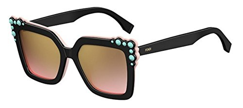 New Fendi FF 0260 S 3H2/53 Can Eye Black Pink/Brown Pink Sunglasses