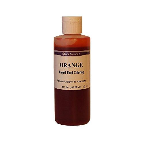 LorAnn Orange Liquid Food Coloring, 4 Ounce