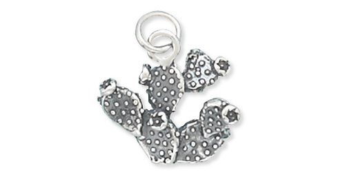 Corinna-Maria 925 Sterling Silver Prickly Pear Cactus (Fine Silver Flower)