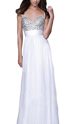 Line Fiesta Cuello Vestido De De Mangas Noche A Sin Blanco Gasa Elegantes Mujer De V Lentejuelas Women 50 For Coctel Largos Dresses De Años Vestidos Vestidos S5aAqwq