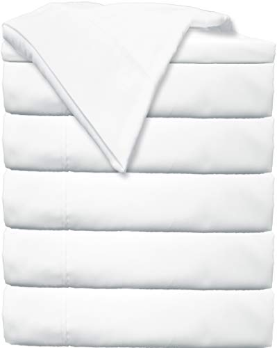 Glarea Bed Flat Sheets 6 Pack (Twin, White) - Soft Brushed Microfiber Bedding for Blissful ()
