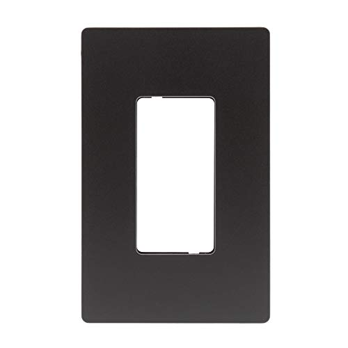 (Legrand - Pass & Seymour radiant RWP26DBCC6 1-Gang Screwless Plastic Wall Plate, Decorative Outlet Cover, Oil Rubbed Bronze Finish)