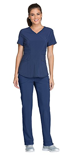 Cherokee Infinity Women's Scrub Set - CK623A V-Neck Top & 1124A Low Rise Slim Pull-On Pant