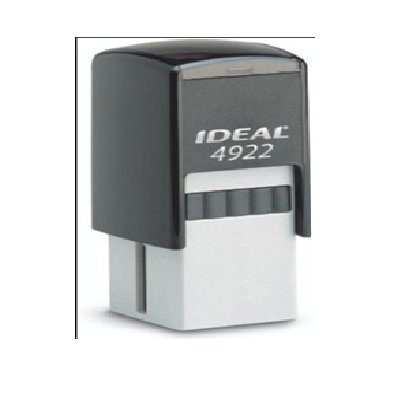 Square Customizable Self Inking Rubber Stamp from Cenveo - up to 2 lines - 13/16