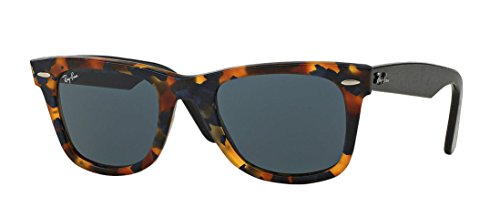 Ray-Ban Unisex RB2140F 1188R5 Sunglasses Original Classic Wayfarer Blue/ Black - Sunglasses Round Wayfarer Ray Ban