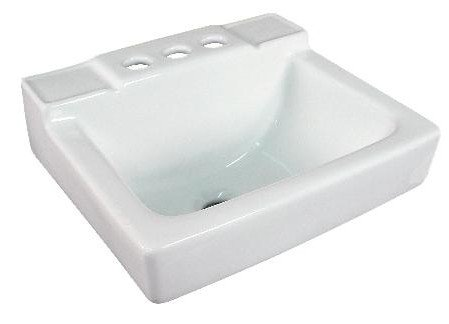 Small Wall Mount Bathroom Sink 14''x12'' White by Fine Fixtures