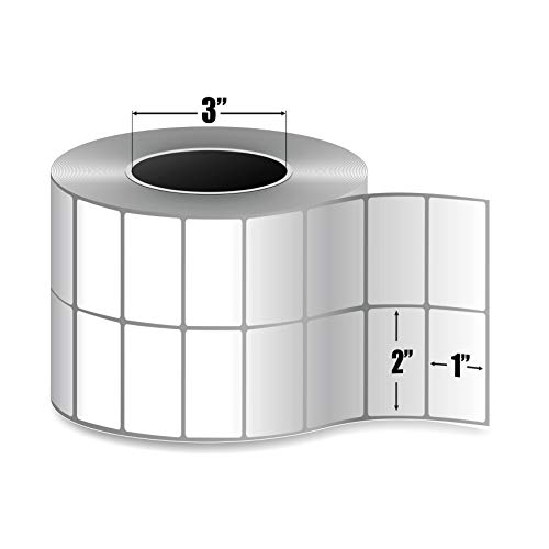 4 Rolls 3 Core Thermal Transfer Labels - 10800 Labels//Roll Smith Corona 2-Up 2x1