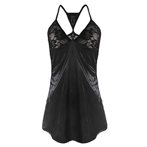 TOTOD Lingerie Women's Sexy Front Closure Babydoll Lace Chemise V Neck Mesh Pajamas Sleepwear