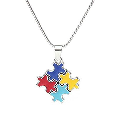 Meenanoom Autism Awareness Square Puzzle Crystal