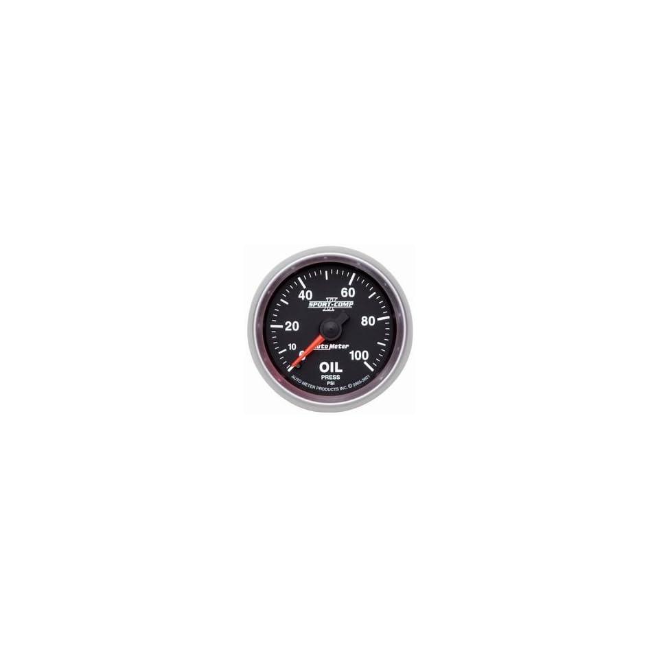 Auto Meter 3621 2 1/16 0 100 PSI Mechanical Oil Pressure Gauge