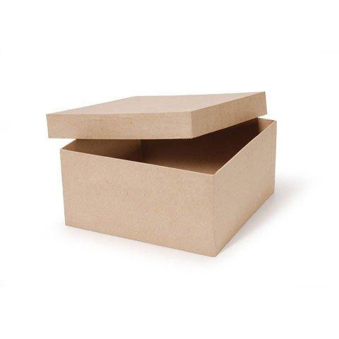Bulk Buy: Darice DIY Crafts Paper Mache Box Square 10 x 10 x 5 in (2-Pack) 2805-41FCAL