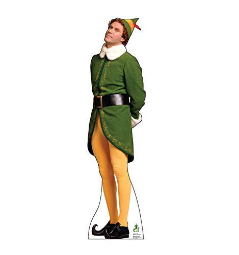 Advanced Graphics Buddy the Elf Concerned Life Size Cardboard Cutout Standup - Elf (2003 Film)