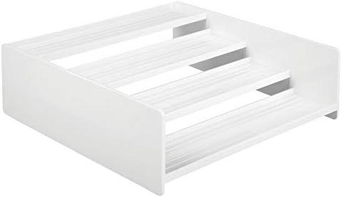 Portaspezie salvaspazio dotato di quattro ripiani mDesign Divisori per cassetti cucina in plastica bianco Pratici portaoggetti per cassetti ideali per la credenza di cucina