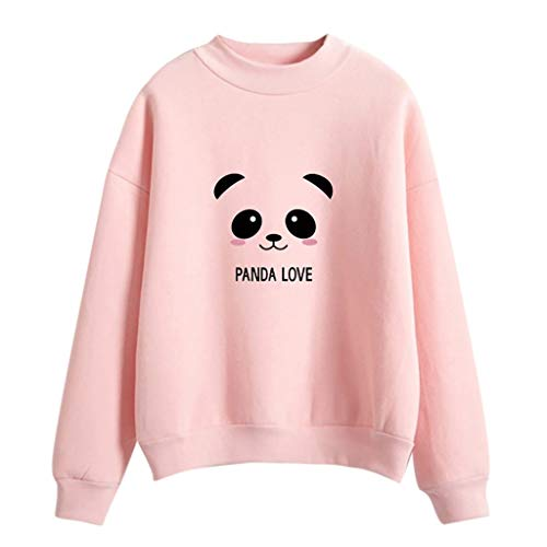 Loose Panda Printed Sweatshirt Women Fashion Long Sleeve Blouse Tops T -Shirt