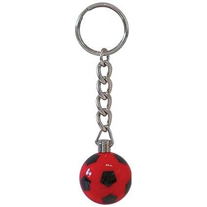 Llavero bola futbolin balon roja: Amazon.es: Deportes y aire ...