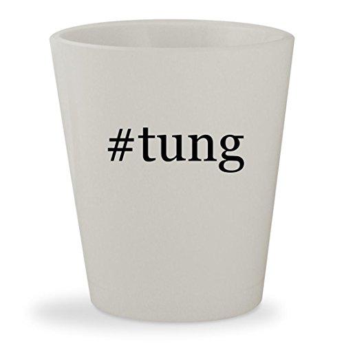 #tung - White Hashtag Ceramic 1.5oz Shot Glass Rejuv Oil