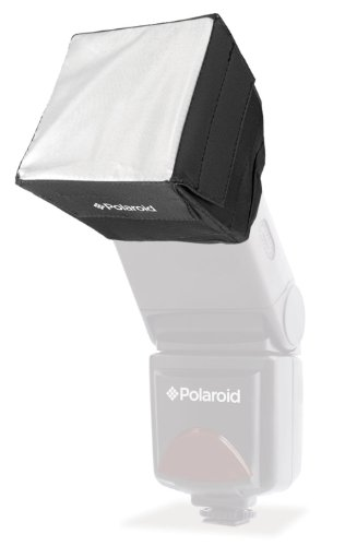 Polaroid Mini Universal Studio Soft Box Flash Diffuser for Canon EOS, Nikon, Olympus, Pentax, Panasonic, Sony, Sigma, & Other External Flash Units (3.5
