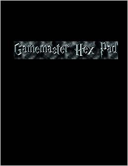 buy gamemaster hex pad hexagonal graph paper large quarter inch