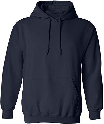 (Joe's USA - Big Mens Size Five Extra Large Hoodie Sweatshirts-5XL, Navy)