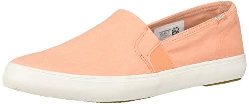 Keds Women's Clipper Washed Solids Sneaker, Coral, 8 (Orange Women Keds)