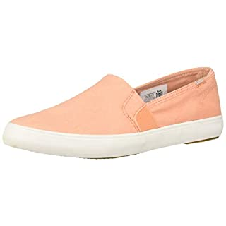 Keds Women's Clipper Washed Solids Sneaker, Coral, 7.5
