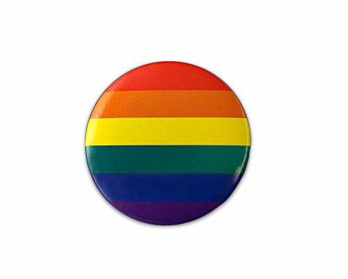Fundraising For A Cause 25 Pack Gay Pride Rainbow Round Button Pins (25 Pins Individually Wrapped)