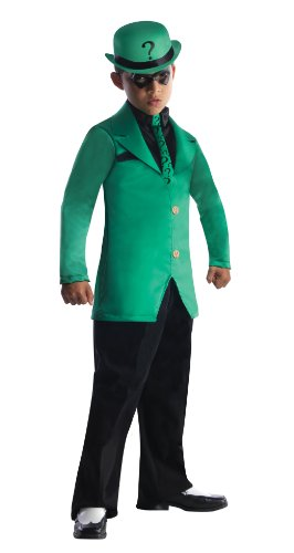 Girl And Guy Halloween Costumes (Rubies DC Super Villains Child Riddler Costume, Medium)