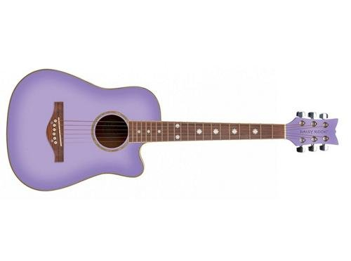 Daisy Rock Wildwood Short Scale Acoustic Guitar, Purple Daze by Daisy Rock