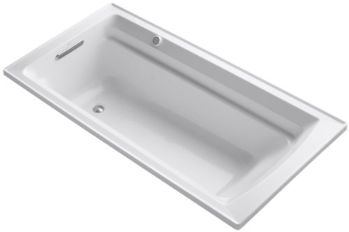 72' Tub (KOHLER K-1124-G-0 Archer 6-Foot BubbleMassage Bath, White)