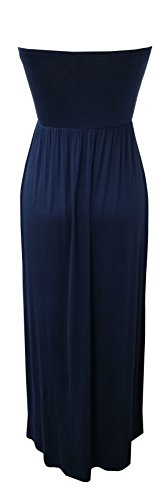 Silver Gate Women's Tube Maxi Dress with Double Layered Top