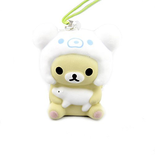 Kawaii San-X Vanilla Squishy Phone Strap Cute NEW Gift for (Cream Filled Halloween Cupcakes)