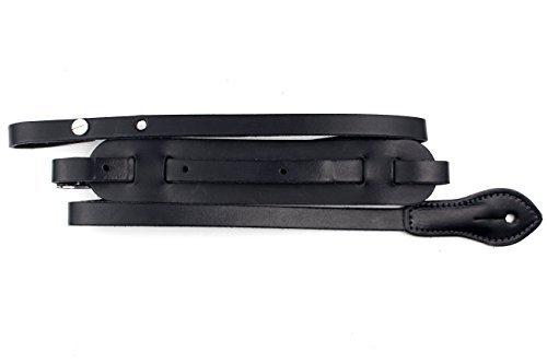 Black Real Vintage Leather Ukulele Mandolin Strap with Adjustable Length (Vintage Ukulele compare prices)