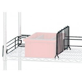 Quantum Storage DIV24BK Chrome Wire Shelving Shelf Divider44; 24 in. - Black