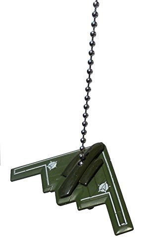 US military airplane Fighter jet air plane Ceiling FAN PULL light chain (Green Stealth B-2 Bomber) by Knight Airplane Ceiling Fan Pull