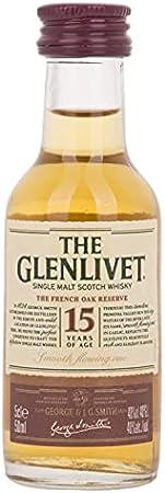 The Glenlivet 15 Years Old THE FRENCH OAK RESERVE Single Malt Scotch Whisky 40% - 50ml