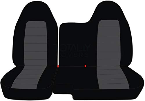 - Totally Covers Fits 2004-2012 Chevy Colorado/GMC Canyon Two-Tone Truck Seat Covers (Front 60/40 Split Bench) No Armrest: Black and Charcoal (21 Colors) 2005 2006 2007 2008 2009 2010 2011 Chevrolet