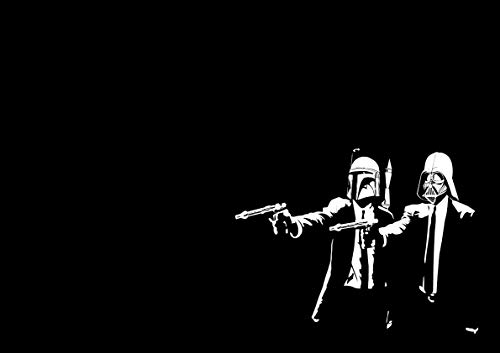Poster Star Wars Pulp Fiction Art (Pulp Fiction Star Wars Poster)