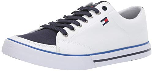 Tommy Hilfiger Men's Regis Sneaker, White, 9.5 M US