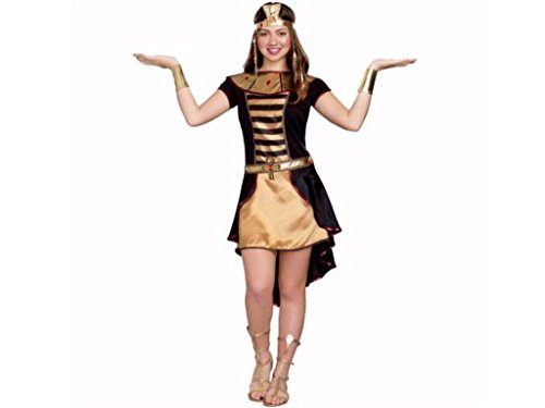 Junior Girls Cleopatra Cutie Halloween Costume Includes Dress, Collar, Headpiece and Wrist Cuffs Size Small (5-7