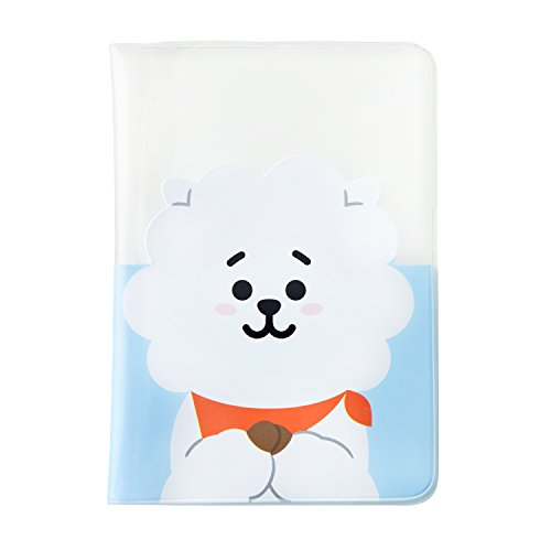 BT21 RJ Transparent Passport Case One Size White_Sky Blue by BT21