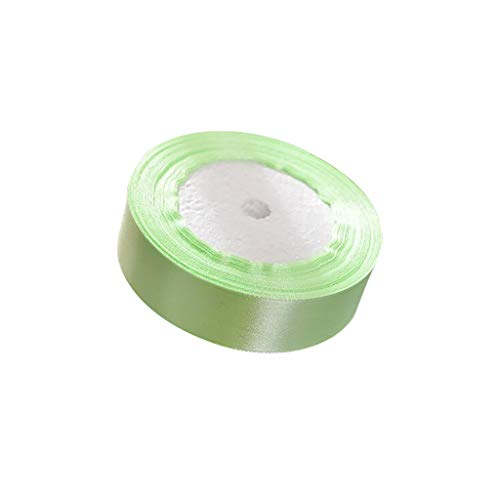 - Lethez Solid Color Satin Ribbon Rainbow Assortment Rolls Variety Pack for Gifts Wrap,Party,Wedding (Mint Green)